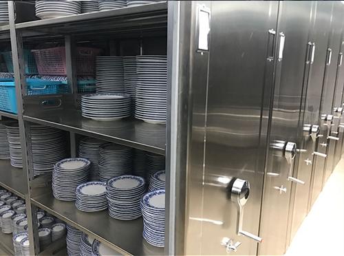 不锈钢碗柜密集架